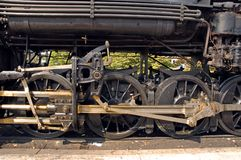 Drive Wheels On Steam Engine Royalty Free Stock Photo