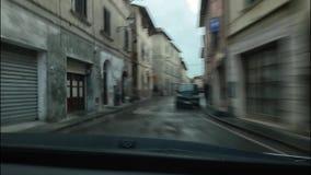 Drivelapse στην Τοσκάνη απόθεμα βίντεο