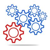 Driven gear. Icon image with white background Royalty Free Stock Photos