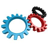 Driven gear. Image with hi-res rendered artwork that could be used for any graphic design Royalty Free Stock Image