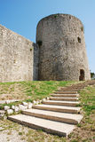 Drivenik Castle. This Frankopan castle near Bakar in Croatia was built in the Middle Ages between the 13th and 18th centuries, and has a rectangular layout with Royalty Free Stock Photo