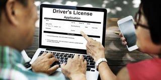 Driver's许可证申请允许形式概念 免版税库存图片