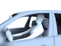 Driver. HQ image of drive in the car on wite background Stock Illustration