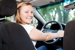 Driver abbastanza adolescente Fotografie Stock