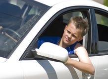 Driver adolescente fotografie stock libere da diritti