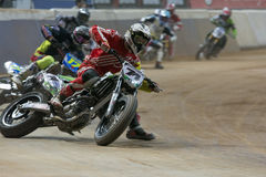 Driver Adrian Garin. Dirt Track Superprestigio competition at the Palau Sant Jordi. Royalty Free Stock Image
