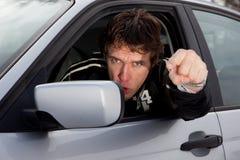 Driver aggressivo immagine stock