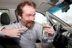 Driver and alcohol Stock Photography