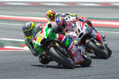 Driver Aleix Espargaro. Aprilia Team. Monster Energy Grand Prix of Catalonia Royalty Free Stock Image
