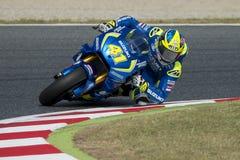 Driver Aleix Espargaro. Suzuki Team Royalty Free Stock Image