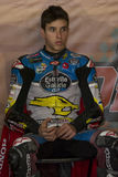 Driver Alex Marquez. Dirt Track Superprestigio competition at the Palau Sant Jordi. Stock Image