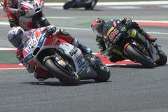 Driver Andrea Dovizioso GRUPPO di Ducati Gran Premio di energia del mostro della Catalogna Immagini Stock Libere da Diritti