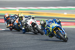 Driver Andrea Iannone. Suzuki Team. Monster Energy Grand Prix of Catalonia Royalty Free Stock Photos