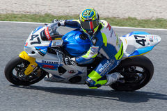 Driver Angel Rodriguez. Team Suzuki. FIM CEV Repsol Royalty Free Stock Photos