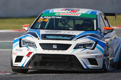 Driver Antonio MARTINEZ. SEAT LEON EUROCUP. Royalty Free Stock Images