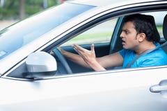 Driver arrabbiato immagini stock