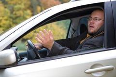 Driver arrabbiato Fotografia Stock Libera da Diritti
