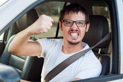 Driver arrabbiato Fotografie Stock