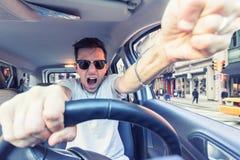 Driver arrabbiato Immagini Stock Libere da Diritti