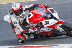 Driver Asier Gomez. BMW S1000RR Royalty Free Stock Photo