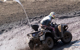 The driver ATV Royalty Free Stock Image