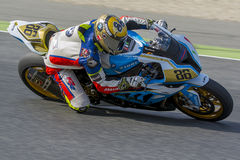 Driver Borja Gomez. BMW S1000RR Royalty Free Stock Images