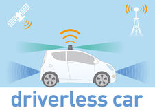 Driver-less Car (autonomous vehicle) Image Illustration Royalty Free Stock Image