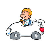 Driver of car illustration cartoon Stock Photo