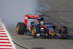 Driver Carlos Sainz Team Toro Rosso Fotografia Stock