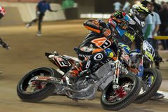 Driver Carmelo Morales. Dirt Track Superprestigio Royalty Free Stock Images