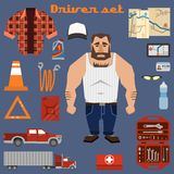 Driver character elements Stock Images