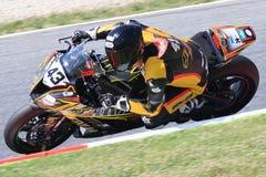 Driver Chris Cotton. Team JEG Racing. FIM CEV Repsol. Driver Fabio Quartararo. Team Estrella Galicia. FIM CEV Repsol. Driver Chris Cotton. Team JEG Racing. FIM Stock Photos