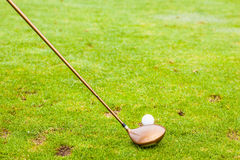 A driver club and a golf ball Royalty Free Stock Images