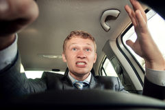 Driver complains while driving Stock Images