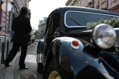 Driver con il cappello del cilindro Fotografie Stock