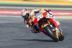 Driver Dani Pedrosa GRUPPO DI REPSOL HONDA Gran Premio di energia del mostro della Catalogna Immagine Stock