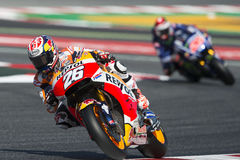 Driver Dani Pedrosa. Repsol Honda Team. Monster Energy Grand Prix of Catalonia Stock Image