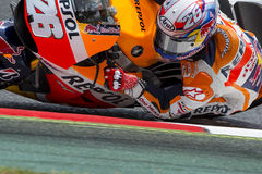 Driver Dani Pedrosa. Repsol Honda Team Stock Photo