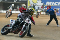 Driver Dani Ribalta. Dirt Track Superprestigio competition at the Palau Sant Jordi. Royalty Free Stock Photography