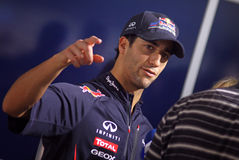Driver Daniel Ricciardo of Red Bull Racing Team Stock Images