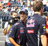 Driver Daniel Ricciardo of Red Bull Racing Team Stock Photography