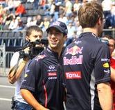 Driver Daniel Ricciardo of Red Bull Racing Team Stock Photography