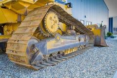 Driver del bulldozer preso Fotografie Stock Libere da Diritti