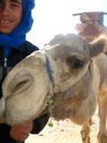 Driver del cammello di Maroccan in Taghazout Fotografia Stock Libera da Diritti