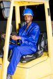 Driver del carrello elevatore fotografia stock libera da diritti