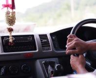 Driver del minibus Fotografia Stock