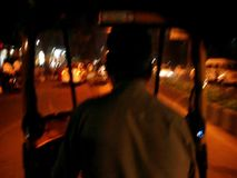Driver del risciò in India archivi video