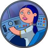 Driver del treno Fotografia Stock
