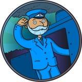 Driver del treno Fotografie Stock