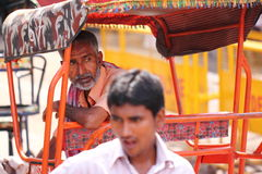 Driver del triciclo Immagini Stock Libere da Diritti